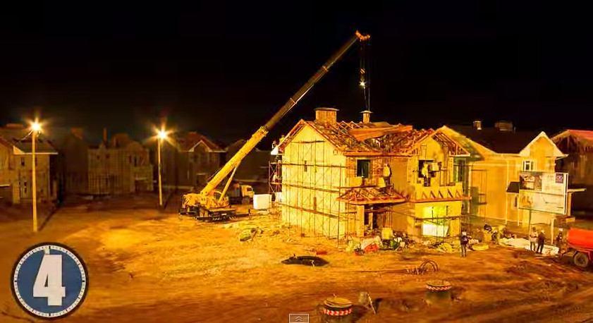 строительство коттеджа за 18 дней
