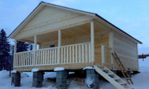 каркасный дом 6 х 6